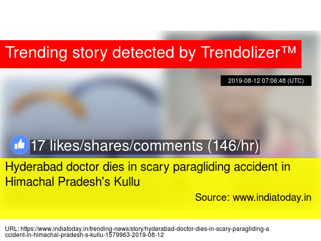 Hyderabad doctor dies in scary paragliding accident in Himachal