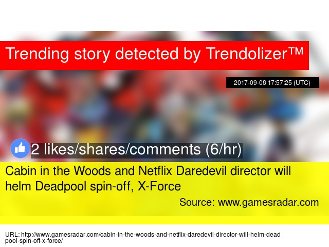 Cabin In The Woods And Netflix Daredevil Director Will Helm Deadpool  Spin Off, X Force