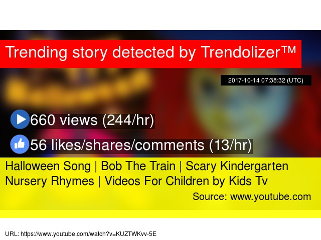 halloween song bob the train scary kindergarten nursery rhymes videos for children by kids tv
