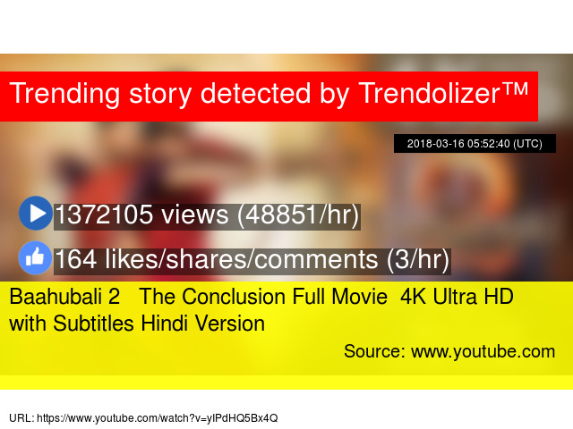 baahubali 2 - the conclusion full movie - 4k ultra hd with subtitles - youtube